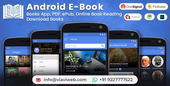 Android EBook App (Books App, PDF, ePub, Online Book Reading, Download Books) nulled