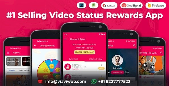 Android Video Status App With Reward Points (WA Status Saver) v4.0 Nulled