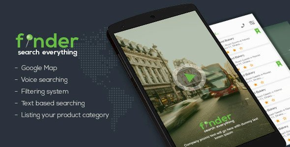 Finder android app template