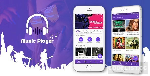 Codecanym Flutter App-Music Player - Nulled
